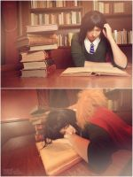 Studying all night, knowing you'd take care of me by Mangakanaru