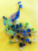 Quilled Peacock by Arboris-Silvestre