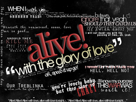 ALIVE WITH THE GLORY OF LOVE by atilthia