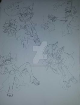 FemShadow x Sonic doodles by Tigerwings598