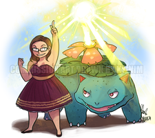 Commission: Birthday Venusaur by ky-nim