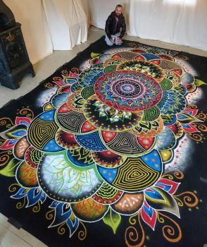 Large Color sand mandala by AtomiccircuS