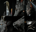 Baphomet Goat Mask - Details by Nymla