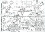 - Coloring page Life in Dutch Canals - by lizzzy-art