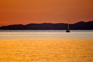 Sunset sail 1 - Mljet by wildplaces