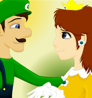 Luigi and Daisy by AbductionFromAbove