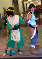 Toph Beifong and Korra DCC by Thillbilli