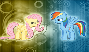 Fluttershy and Rainbow Dash WP by alanfernandoflores01