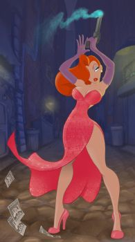 Jessica Rabbit by goatchumby