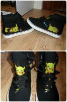 Pikachu Hi-tops! by maja135able