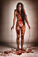 Alexis Kim bloody barbed wire by badasstatguy