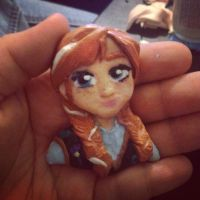 Clay FROZEN Anna Cabochon Complete by SnowdropJewellery
