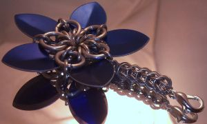 Scale Flower Keychain by Mommy-of-Monsters