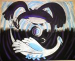 Yin and Yang - Lugia and Shadow Lugia (Remade) by Raven-Shinda