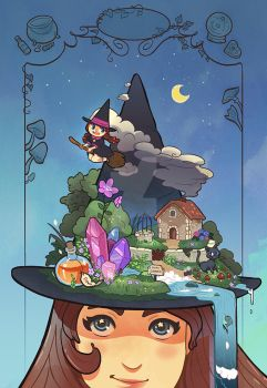 witch hat by audreymolinatti