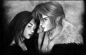 Squall and Rinoa by moneeka
