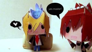 Yes Master - Papercraft by awesomeness890