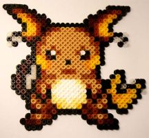 Raichu Hama Beads by Kelzky