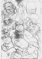 SKETCH BATMAN ENEMIES by MARCIOABREU7
