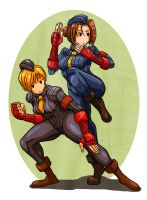 Streetfighter Juni and Juli by Crew1