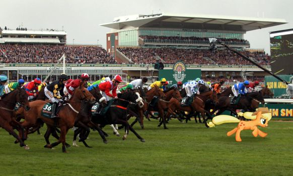 Applejack leading the Grand National by Uponia