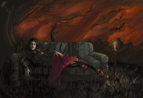Once Upon a Sofa by darklyartistic