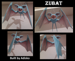 Zubat Pokemon Papercraft by Adisko