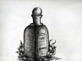 Health tonic bottle by tj6795