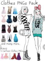 Clothes PNGs Pack by WhitneyTeresa