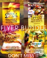 PSD Summer Flyer Pack by retinathemes