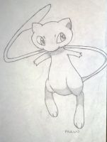 Freehand Mew by MelodyLunairEclipse