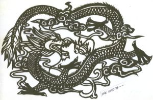 dragon paper cut by ivanutrera