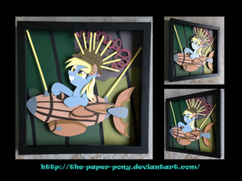 12x12 100th Episode Derpy Shadowbox by The-Paper-Pony