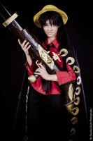 Luffy - Strong world- One Piece by Mayumi-Kiryuuin