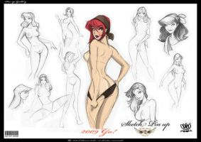 sketch pin up first by celaoxxx
