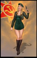 Commission: Zhana of Red Alert 3 by johnbecaro