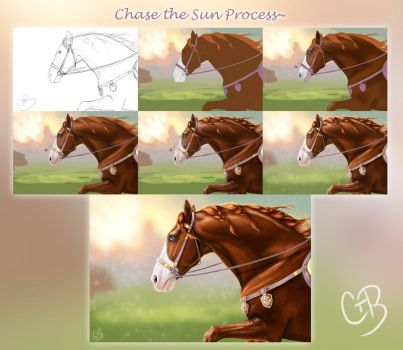 Process~ Chase the Sun + Step by Step Description by ChellytheBean