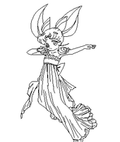 Dancing Rini Coloring Page by ParamourPhoenix