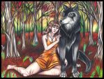 Willow and Wolf by PaintFairy