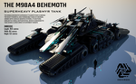 M98A4 Behemoth Superheavy Plasmyr Tank (FULL HD) by Universe-of-Dusk