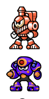 "MegaMan ""Sprites""-Bosses of 5 by WaneBlade"