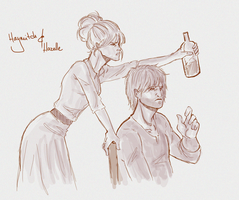 Haymitch and Hazelle by SkyDominic