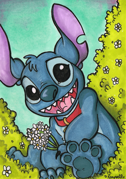 Stitch Marker Card by reaperfox