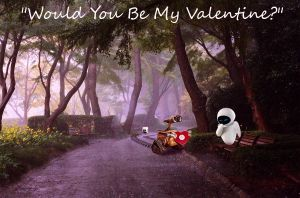 Happy Valentines Day Wall-E and Eve by ctomuta