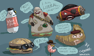Food Fortress (TF2 FlockDraw) by Bleson