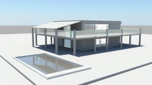 House with pool (Maya 2016) by Topas2012
