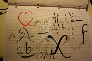 Typeface Sketches 7 by Weegraphicsman