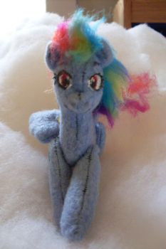 Rainbow Dash miniature plush 1 by skookum