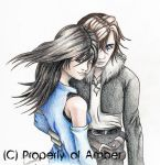 Squall and Rinoa by CinnamonSoldier