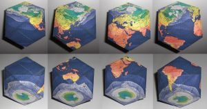 blue earth cuboctahedron by minidelirium